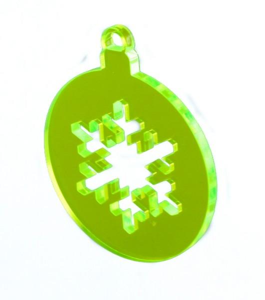 Lichtzauber Kugel Eiskristall, 8 cm, grün (Elliot 1021511)
