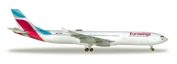 Herpa Wings 531566 - Eurowings Airbus A340-300 - OO-SCW - 1:500