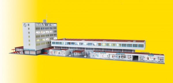 Kibri 37517 - Bahnhof Kehl inkl. Etageninnenbeleuchtung, Funktionsbausatz - N