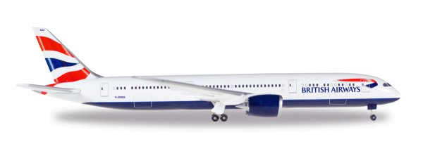 Herpa Wings 528948-001 - British Airways Boeing 787-9 Dreamliner - G-ZBKM - 1:500