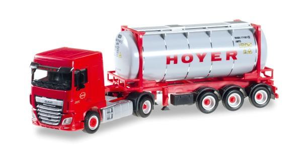 """Herpa 306072 - DAF XF SC Euro 6 Chemietankcontainer-Sattelzug """"HOYER"""" - 1:87"""