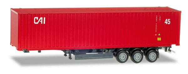"""Herpa 076791 - 45 ft. Container-Auflieger """"CAI"""" - 1:87"""