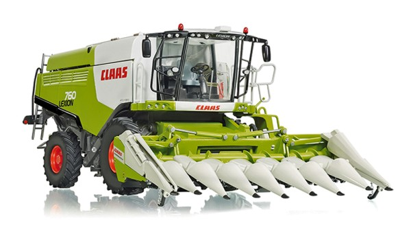 Wiking 077340 - Claas Lexion 760 Mähdrescher mit Conspeed Maisvorsatz - 1:32
