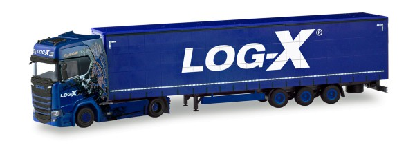 "Herpa 310413 - Scania CS 20 HD Lowliner-Sattelzug ""Log-X / I´m the best""(CZ) - 1:87"