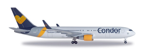 """Herpa Wings 527521-001 - Condor Boeing 767-300ER """"Sunny Heart"""" colors - D-ABUP - 1:500"""
