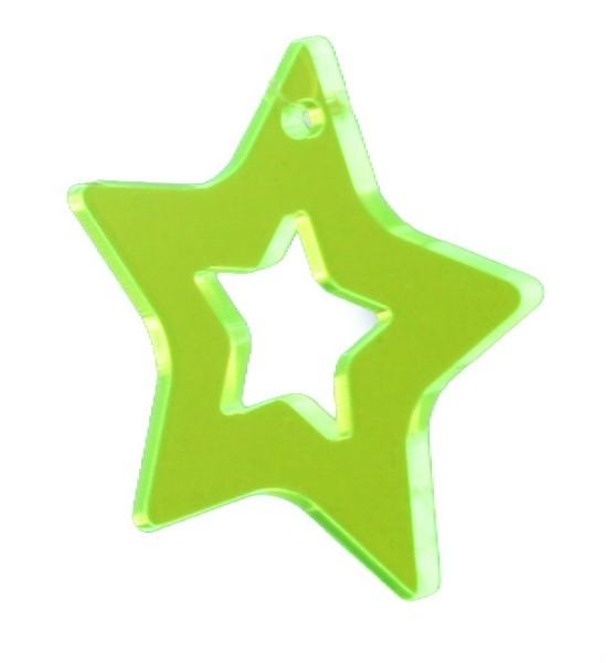 Lichtzauber Zimtstern klein, 10 cm, grün (Elliot 1020721)
