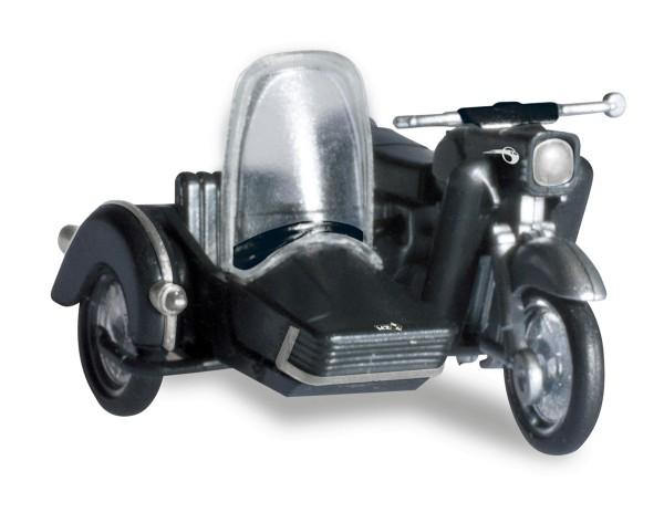 Herpa 053433-004 - MZ 250 mit Beiwagen, schwarz - 1:87