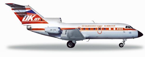 Herpa Wings 559348 - CSA Ceskoslovenske Airlines Yakovlev Yak-40 - 1:200