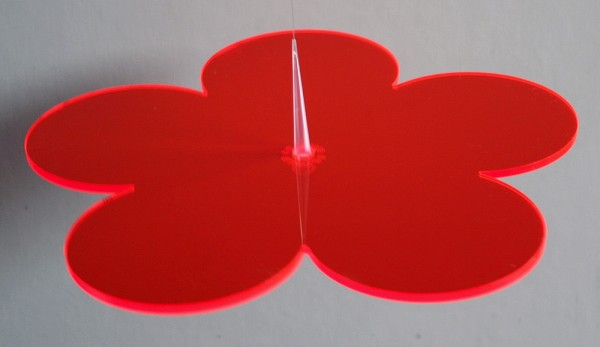 Lichtzauber Sonnenfänger - Blume klein, Ø 12 cm, rot (Elliot 1019083)