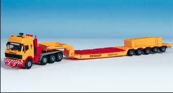 Kibri 13582 - MB SK 4achs Schwerlastzugmaschine mit Tiefbettauflieger - Bausatz - H0