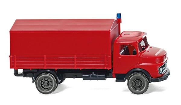Wiking 086134 - Feuerwehr - Pritschen-Lkw (MB Kurzhauber) - 1:87