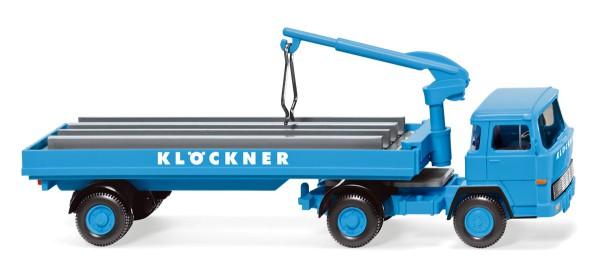 """Wiking 050205 - Baustoffwagen (Magirus 135 D 11 FS) """"Klöckner"""" - 1:87"""