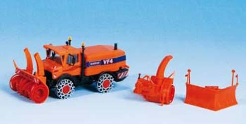 Kibri 15011 - UNIMOG Schneefräse mit Winterdienstausrüstung - H0