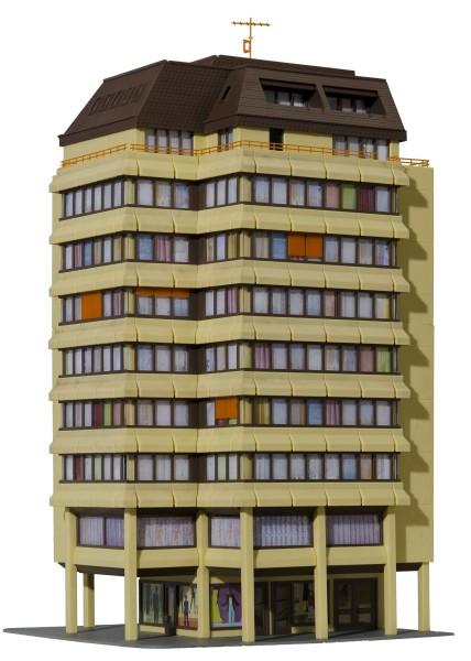 Kibri 48218 - Hochhaus inkl. Etagenbeleuchtung - H0