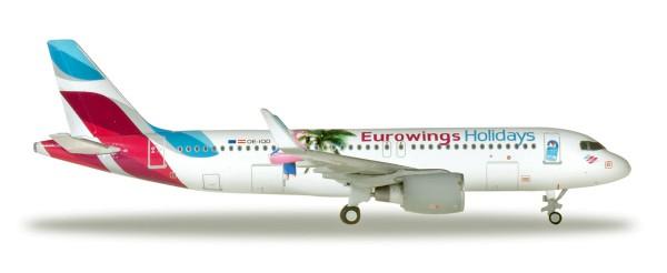 """Herpa Wings 562676 - Eurowings Europe Airbus A320 """"Eurowings Holidays"""" - OE-IQD - 1:400"""