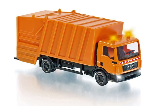 Wiking 077429 - Wiking Control87 - Pressmüllwagen (MAN TGL) Control87 - kommunalorange - H0