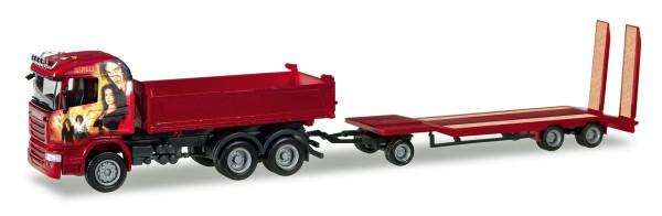 "Herpa 307239 - Scania R HL Meiller-Kipper mit TU3 ""Heidemann"" - 1:87"