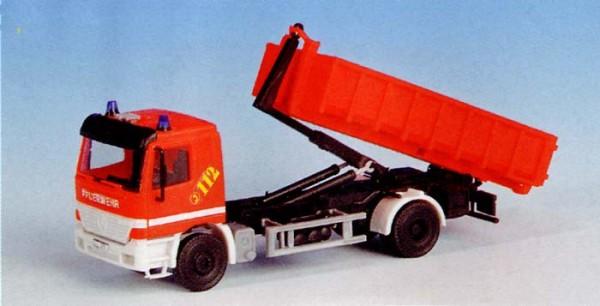 Kibri 18249 - Feuerwehr Actros 2 achs mit Abrollsystem - H0