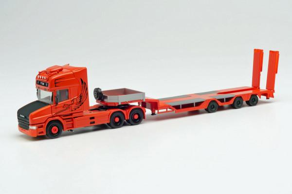 "Herpa 313070 - Scania Hauber TL Zugmaschine Tieflade-Sattelzug ""Spezialtransporte Sturm"" - 1:87"