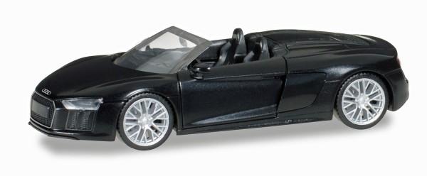 Herpa 038690 - Audi R8 Spyder, Mythosschwarz Perleffekt - 1:87