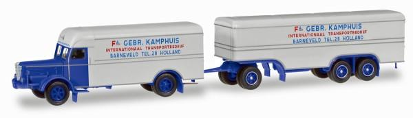 """Herpa 306638 - Büssing 8000 Koffer-Hängerzug """"Kamphuis"""" (NL) - 1:87"""
