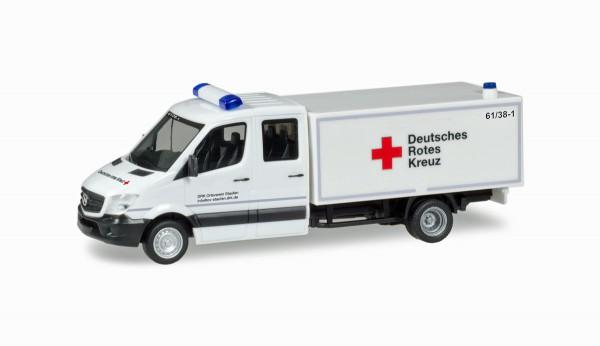 """Herpa 093651 - Mercedes-Benz Sprinter Doppel-Kabine mit Koffer """"DRK Staufen"""" - 1:87"""