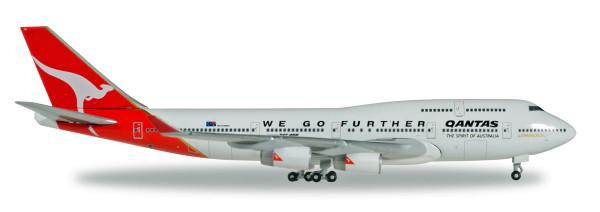 "Herpa Wings 500609-001 - Qantas Boeing 747-400 ""We Go Further"" - 25 YEARS Herpa Wings Edition - VH-O"