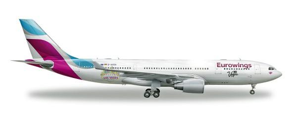 """Herpa Wings 531436 - Eurowings Airbus A330-200 """"Las Vegas"""" - D-AXGF - 1:500"""