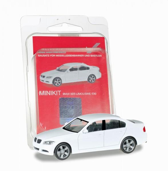 Herpa 012874 - Herpa MiniKit: BMW 3er Limousine E90, weiß - 1:87