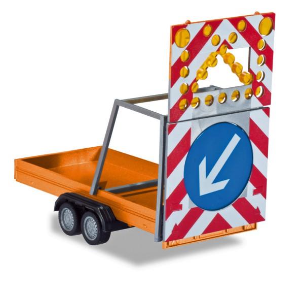 Herpa 052368-002 - Verkehrssicherungsanghänger, kommunalorange - 1:87