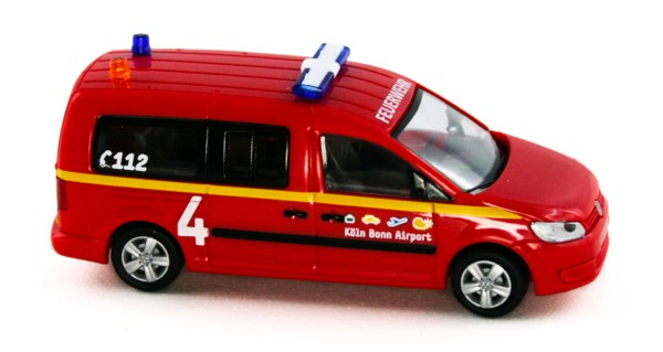 Rietze 52710 - Volkswagen Caddy Maxi 11 Flughafenfeuerwehr Köln-Bonn - 1:87