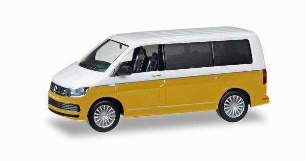 Herpa 038730 - VW T6 Multivan Bicolor, candyweiß / kurkumagelb metallic - 1:87