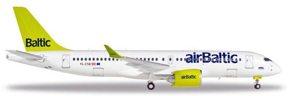 Herpa Wings 558457-001 - AirBaltic Bombardier CS300 - YL-CSB - 1:200