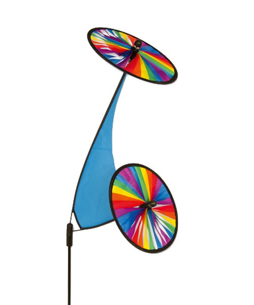 Colours in Motion - Windspiel Space Flower Rainbow - Ø 27 x 100 cm