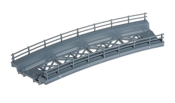 NOCH 21350 - Brücken-Fahrbahn, gebogen, Radius 360 mm, 18 cm lang - H0