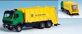 Kibri 15010 - MB SK Müllwagen für Container - Bausatz - H0