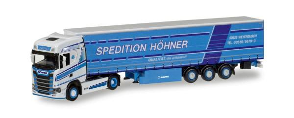 "Herpa 308458 - Scania CS HD Gardinenplanen-Sattelzug ""Höhner"" - 1:87"