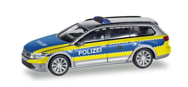 """Herpa 094030 - VW Passat Variant GTE E-Hybrid """"Polizei Wolfsburg"""" - 1:87"""