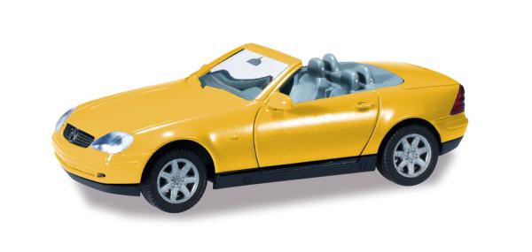 Herpa 012188-005 - Herpa Minikit Mercedes-Benz SLK Roadster, gelb - 1:87