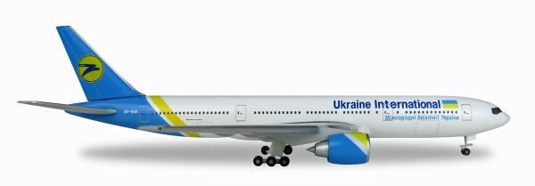 Herpa Wings 531122 - Ukraine International Airlines Boeing 777-200 - UR-GOA - 1:500