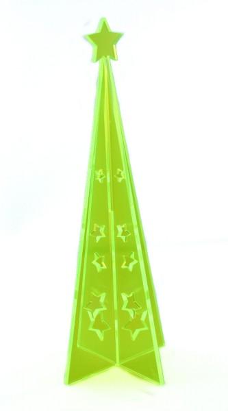 Lichtzauber 3D-Design-Tannenbaum groß, 20 cm, grün, stehend (Elliot 1020411)