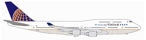 """Herpa Wings 531306 - United Airlines Boeing 747-400 """"747 Farewell flight"""" - N118UA - 1:500"""