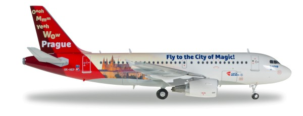 "Herpa Wings 558075 - CSA Czech Airlines Airbus A319 ""Prague - City of Magic"" - 1:200"