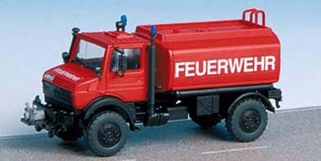 Kibri 18272 - Feuerwehr Unimog mit Wasserbehälter - H0