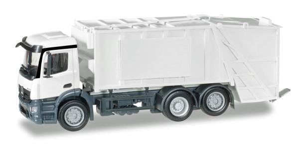 Herpa 012928 - Herpa MiniKit: Mercedes-Benz Antos Pressmüllwagen, weiß - 1:87