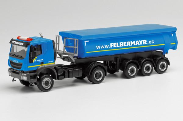 """Herpa 312875 - Iveco Trakker 4x4 Rundmulden-Sattelzug """"Felbermayr"""" - 1:87"""