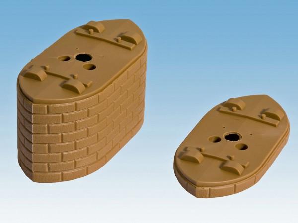 NOCH 21410 - Pontonpfeiler-Elemente, je 5 mm hoch, 5 Stück - H0
