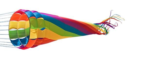 Invento-HQ Windspiel Wind Turbine Rainbow (2500 cm x 352 cm)
