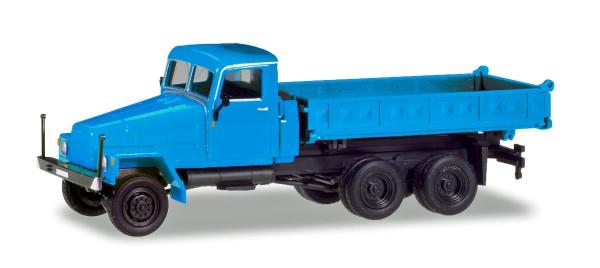 Herpa 308670 - IFA G5 Dreiseitenkipper, blau (Geänderte Kabine und neuer Aufbau) - 1:87