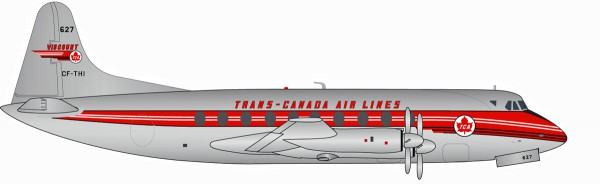 Herpa Wings 558938 - Trans Canada Air Lines Vickers Viscount 700 - CF-THI - 1:200